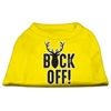 Mirage Pet Products Buck Off Screen Print Dog Shirt Yellow XXXL (20)