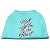 Mirage Pet Products Well Bless Your Heart Screen Print Dog Shirt Aqua XS (8)