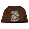 Mirage Pet Products Well Bless Your Heart Screen Print Dog Shirt Brown Lg (14)