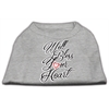 Mirage Pet Products Well Bless Your Heart Screen Print Dog Shirt Grey XS (8)