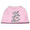 Mirage Pet Products Well Bless Your Heart Screen Print Dog Shirt Light Pink Med (12)