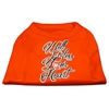 Mirage Pet Products Well Bless Your Heart Screen Print Dog Shirt Orange Med (12)