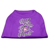 Mirage Pet Products Well Bless Your Heart Screen Print Dog Shirt Purple Med (12)