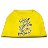 Mirage Pet Products Well Bless Your Heart Screen Print Dog Shirt Yellow Med (12)