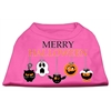 Mirage Pet Products Merry Halloween Screen Print Dog Shirt Bright Pink XXL (18)
