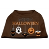 Mirage Pet Products Merry Halloween Screen Print Dog Shirt Brown Med (12)