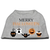 Mirage Pet Products Merry Halloween Screen Print Dog Shirt Grey XL (16)