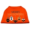 Mirage Pet Products Merry Halloween Screen Print Dog Shirt Orange XS (8)