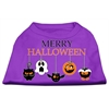 Mirage Pet Products Merry Halloween Screen Print Dog Shirt Purple XXL (18)