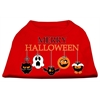 Mirage Pet Products Merry Halloween Screen Print Dog Shirt Red XS (8)