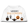 Mirage Pet Products Merry Halloween Screen Print Dog Shirt White XXL (18)