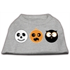 Mirage Pet Products The Spook Trio Screen Print Dog Shirt Grey Sm (10)