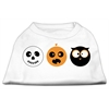 Mirage Pet Products The Spook Trio Screen Print Dog Shirt White XL (16)
