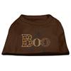 Mirage Pet Products Boo Rhinestone Dog Shirt Brown XS (8)