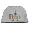 Mirage Pet Products Boo Rhinestone Dog Shirt Grey XS (8)