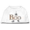 Mirage Pet Products Boo Rhinestone Dog Shirt White XXL (18)