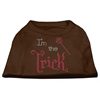 Mirage Pet Products I'm the Trick Rhinestone Dog Shirt Brown XS (8)