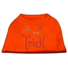 Mirage Pet Products I'm the Trick Rhinestone Dog Shirt Orange XL (16)