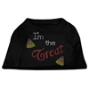 Mirage Pet Products I'm the Treat Rhinestone Dog Shirt Black XXL (18)