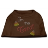 Mirage Pet Products I'm the Treat Rhinestone Dog Shirt Brown Med (12)