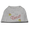 Mirage Pet Products I'm the Treat Rhinestone Dog Shirt Grey Lg (14)