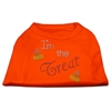 Mirage Pet Products I'm the Treat Rhinestone Dog Shirt Orange XXL (18)