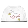 Mirage Pet Products I'm the Treat Rhinestone Dog Shirt White XL (16)