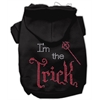 Mirage Pet Products I'm the Trick Rhinestone Hoodies Black S (10)