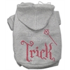 Mirage Pet Products I'm the Trick Rhinestone Hoodies Grey XXXL(20)