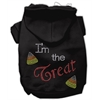 Mirage Pet Products I'm the Treat Rhinestone Hoodies Black XL (16)