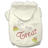 Mirage Pet Products I'm the Treat Rhinestone Hoodies Cream S (10)
