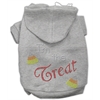 Mirage Pet Products I'm the Treat Rhinestone Hoodies Grey XXL (18)