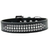 Mirage Pet Products Ritz Pearl and Clear Crystal Dog Collar Black Size 16