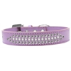 Mirage Pet Products Ritz Pearl and Clear Crystal Dog Collar Lavender Size 14