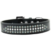 Mirage Pet Products Ritz Pearl and AB Crystal Dog Collar Black Size 20
