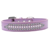 Mirage Pet Products Ritz Pearl and AB Crystal Dog Collar Lavender Size 12
