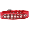 Mirage Pet Products Ritz Pearl and AB Crystal Dog Collar Red Size 20