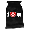 Mirage Pet Products I Love You Screen Print Knit Pet Sweater LG Black