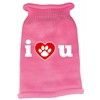 Mirage Pet Products I Love You Screen Print Knit Pet Sweater SM Pink