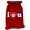 Mirage Pet Products I Love You Screen Print Knit Pet Sweater LG Red