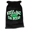 Mirage Pet Products Kiss Me Im Irish Screen Print Knit Pet Sweater MD Black