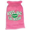 Mirage Pet Products Kiss Me Im Irish Screen Print Knit Pet Sweater LG Pink