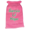 Mirage Pet Products Santas Lil Helper Screen Print Knit Pet Sweater MD Pink