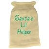 Mirage Pet Products Santas Lil Helper Screen Print Knit Pet Sweater LG Cream
