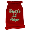 Mirage Pet Products Santas Lil Helper Screen Print Knit Pet Sweater MD Red