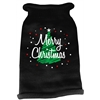 Mirage Pet Products Scribbled Merry Christmas Screen Print Knit Pet Sweater MD Black