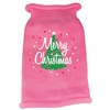 Mirage Pet Products Scribbled Merry Christmas Screen Print Knit Pet Sweater LG Pink