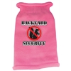 Mirage Pet Products Back Yard Security Screen Print Knit Pet Sweater SM Pink