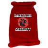 Mirage Pet Products Back Yard Security Screen Print Knit Pet Sweater MD Red