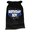 Mirage Pet Products Birthday Boy Screen Print Knit Pet Sweater MD Black